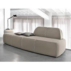 Blum-D - Divano moderno Tonin Casa a 4 posti, con rivestimento in tessuto, pelle o similpelle
