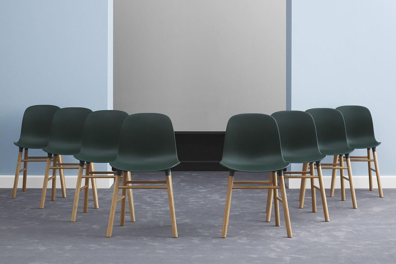 Form W Pour Bars Et Restaurants Chaise En Bois Assise