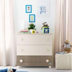 Gaia C - Cajonera Pali de madera, con tres cajones, disponible en varios colores