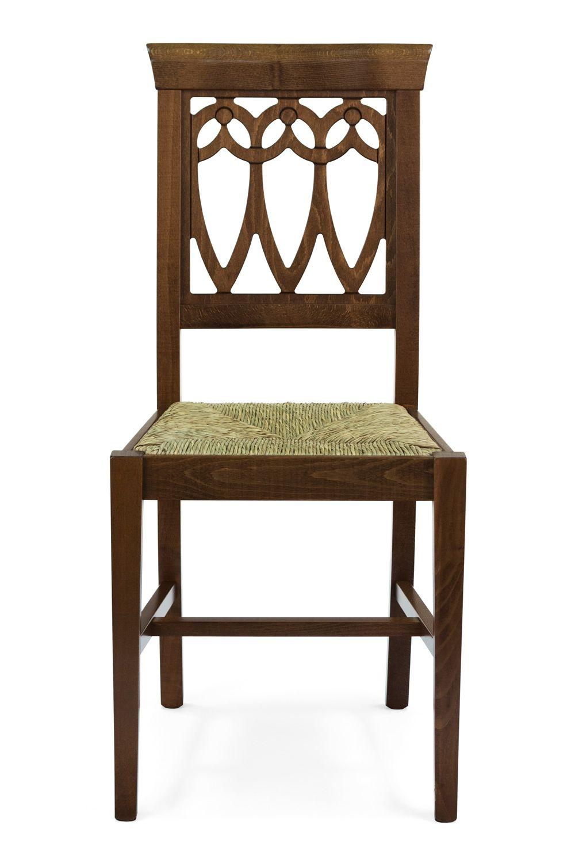 Mu11 ter chaise rustique en bois pour bars et restaurants for Chaise rustique bois et paille