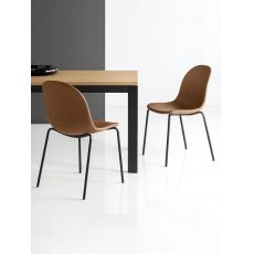CB1663-SK Academy - Bar metal chair, with imitation leather seat, several colours available