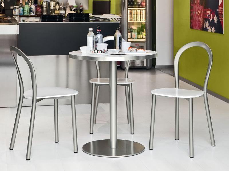 Cb1304 lotus per bar e ristoranti sedia in metallo con for Sedie in acciaio