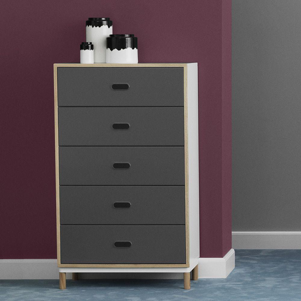 kabino kommode normann copenhagen aus holz und mdf schubladen aus aluminium in verschiedenen. Black Bedroom Furniture Sets. Home Design Ideas