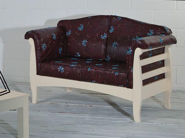 LAR9 Divano - Divano rustico in legno, con cuscini ...