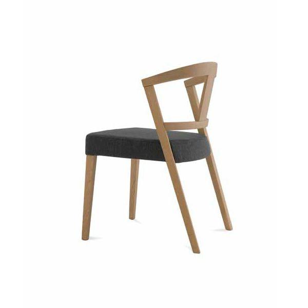 Gea silla domitalia de madera asiento tapizado en tejido - Tapizado de silla ...