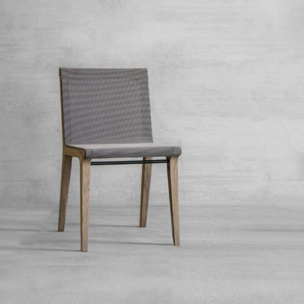 Mesh Me | Oak Wooden Chair, With Net Seat