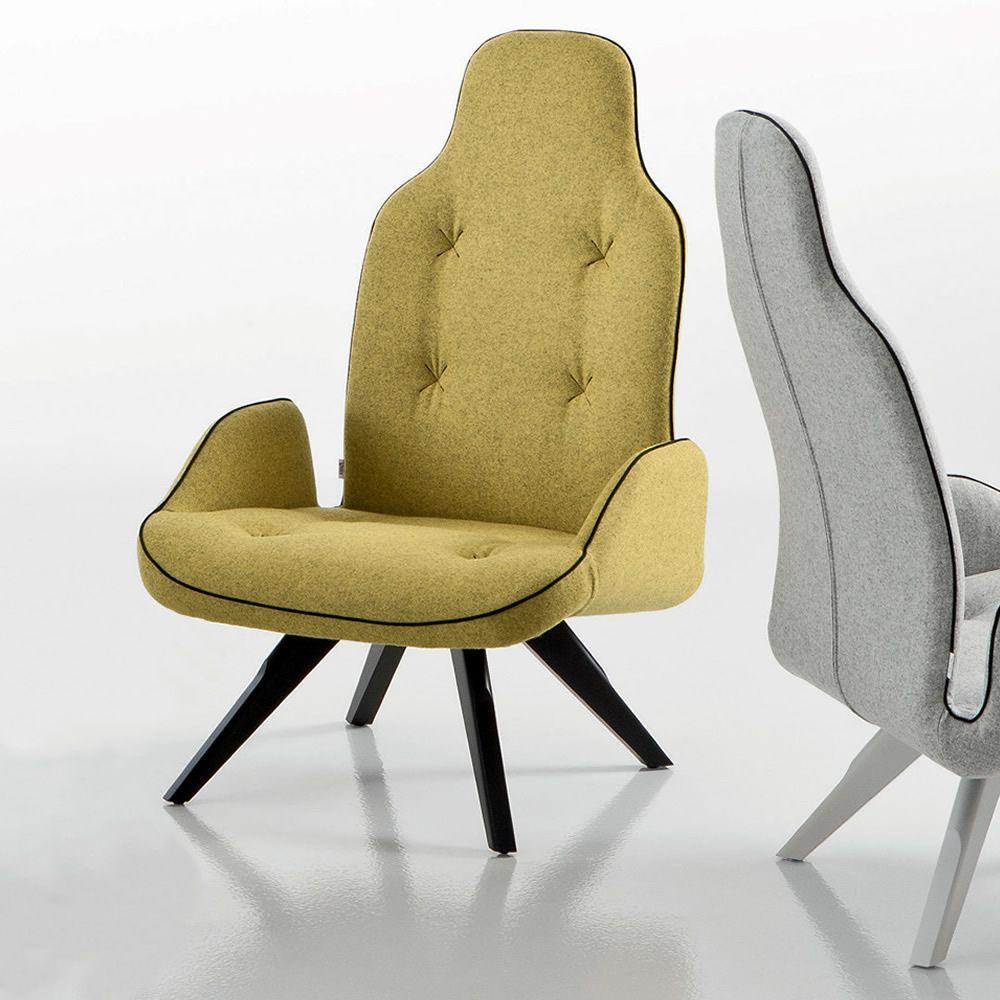 betib wood p designer sessel von chairs more aus holz mit gepolsterter sitz in. Black Bedroom Furniture Sets. Home Design Ideas