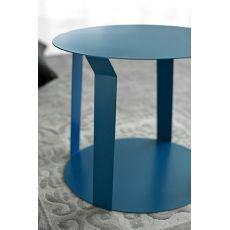 Freeline1 Promo - Tavolino rotondo di design in metallo, disponibile in diversi colori