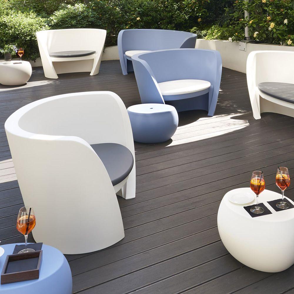 rap chair fauteuil empilable slide en poly thyl ne id al pour le jardin avec ou sans coussin. Black Bedroom Furniture Sets. Home Design Ideas