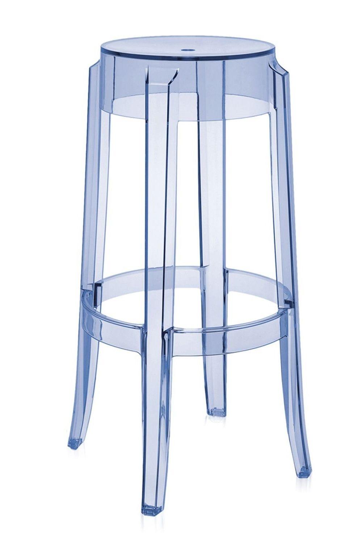 Charles ghost tabouret kartell de design en polycarbonate - Tabouret plastique transparent ...