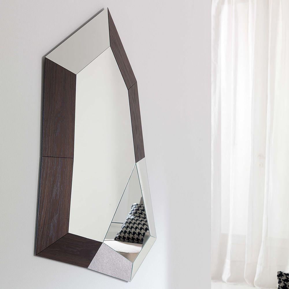 Trixy specchio moderno con cornice in specchio e mdf disponibile in diverse finiture sediarreda - Specchio moderno ...
