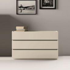 Super - Cassettiera Dall'Agnese in legno, diverse finiture disponibili, tre cassetti
