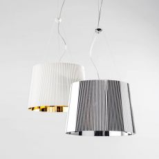 Gè - Kartell suspension ceiling lamp, made of polycarbonate, in several colours available