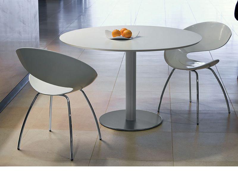Twist s stuhl midj aus metall sitz aus hirek auch f r for Design stuhle weiss