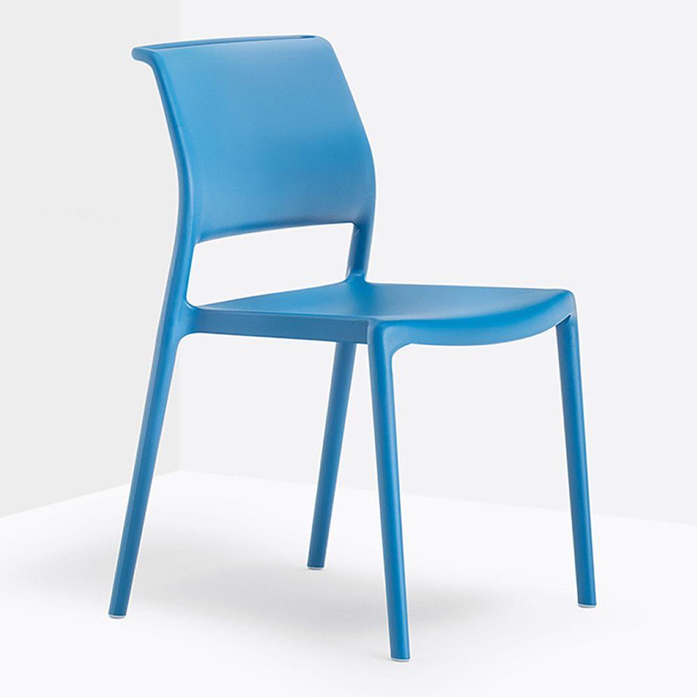 Ara 310 stackable pedrali chair in polypropylene for Sedie blu cucina