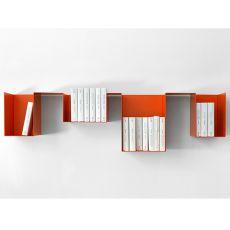 Spread - Mensola libreria di design in metallo, modulare, disponibile in diversi colori
