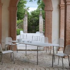Cross T - Emu metal table, for garden, available in several sizes