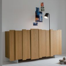 Stripe-S - Dall'Agnese sideboard made of veneered wood and metal, different colours and sizes available