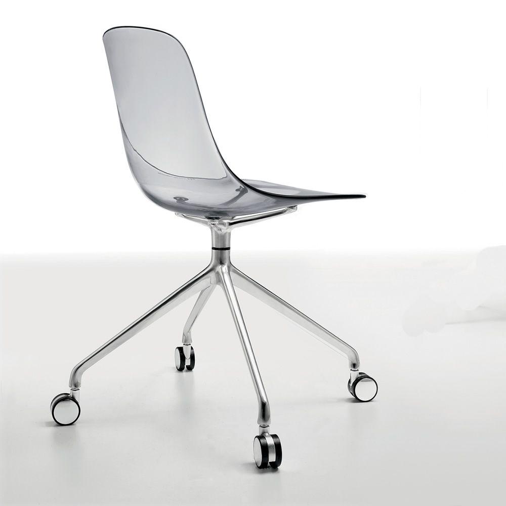 Pure loop r sedia infiniti in alluminio e policarbonato for Sedie policarbonato