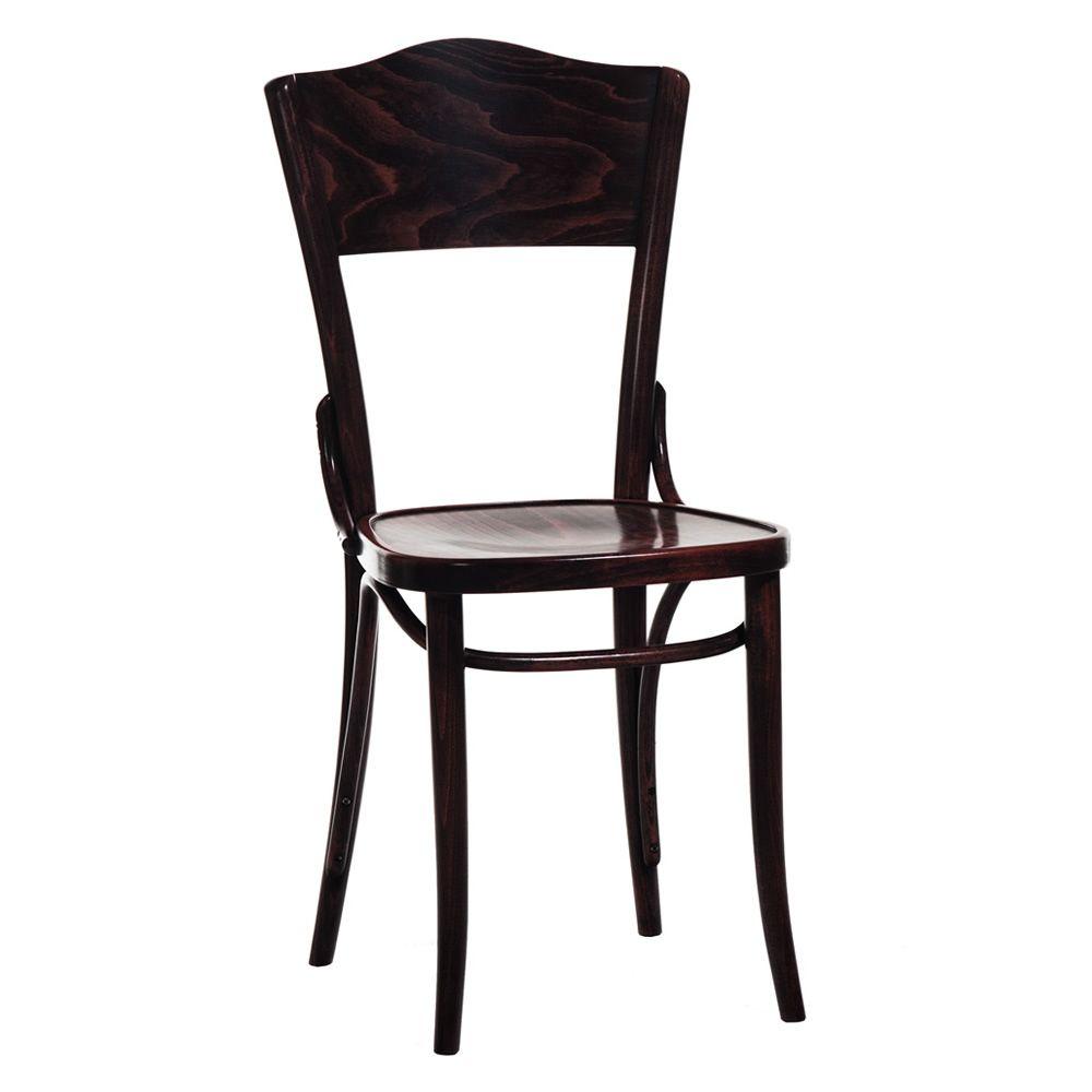 Dejavu 054 sedia ton in legno curvato sedile in legno for Sedia design marrone