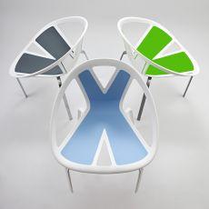 Extreme - Poltroncina di design in metallo e tecnopolimero, diversi colori disponibili, anche per esterno