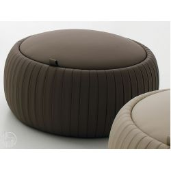 pouf pliss 7335 pouf rond tonin casa en smili cuir avec conteneur en diff rentes couleurs et. Black Bedroom Furniture Sets. Home Design Ideas