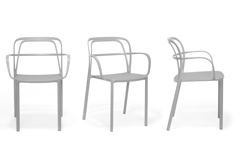 intrigo stuhl pedrali aus aluminium stapelbar f r den. Black Bedroom Furniture Sets. Home Design Ideas