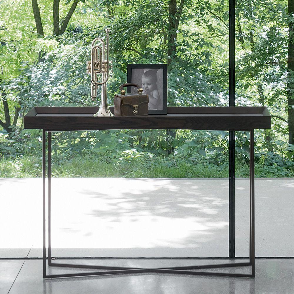 slash c konsole dall 39 agnese aus metall und furnierholz. Black Bedroom Furniture Sets. Home Design Ideas