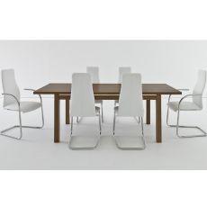 Ada - Table en bois, 160x90 cm, à rallonge