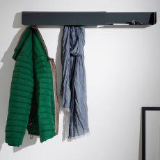 Dock - Appendiabiti e portaoggetti da muro B-Line, in metallo, disponibile in diversi colori