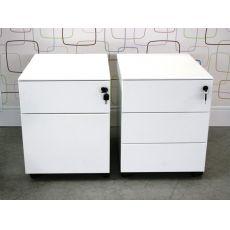 Cassettiera Metal - Cassettiera per ufficio in metallo, dotata di ruote, con due o tre cassetti