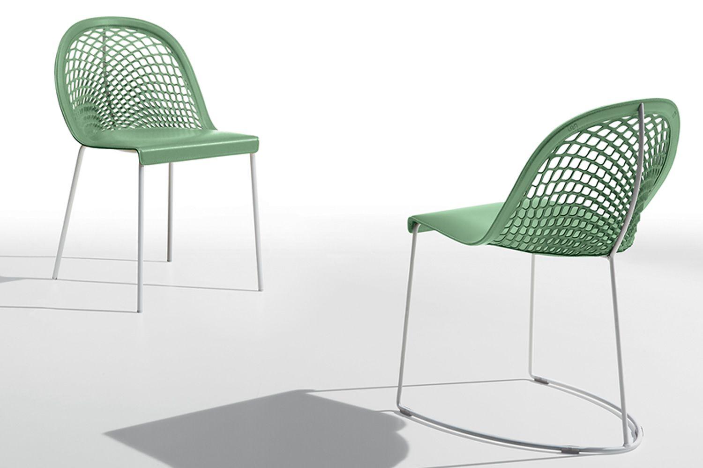 Guapa s4 chaise midj en m tal assise en cuir naturel en - Chaise blanc d ivoire ...