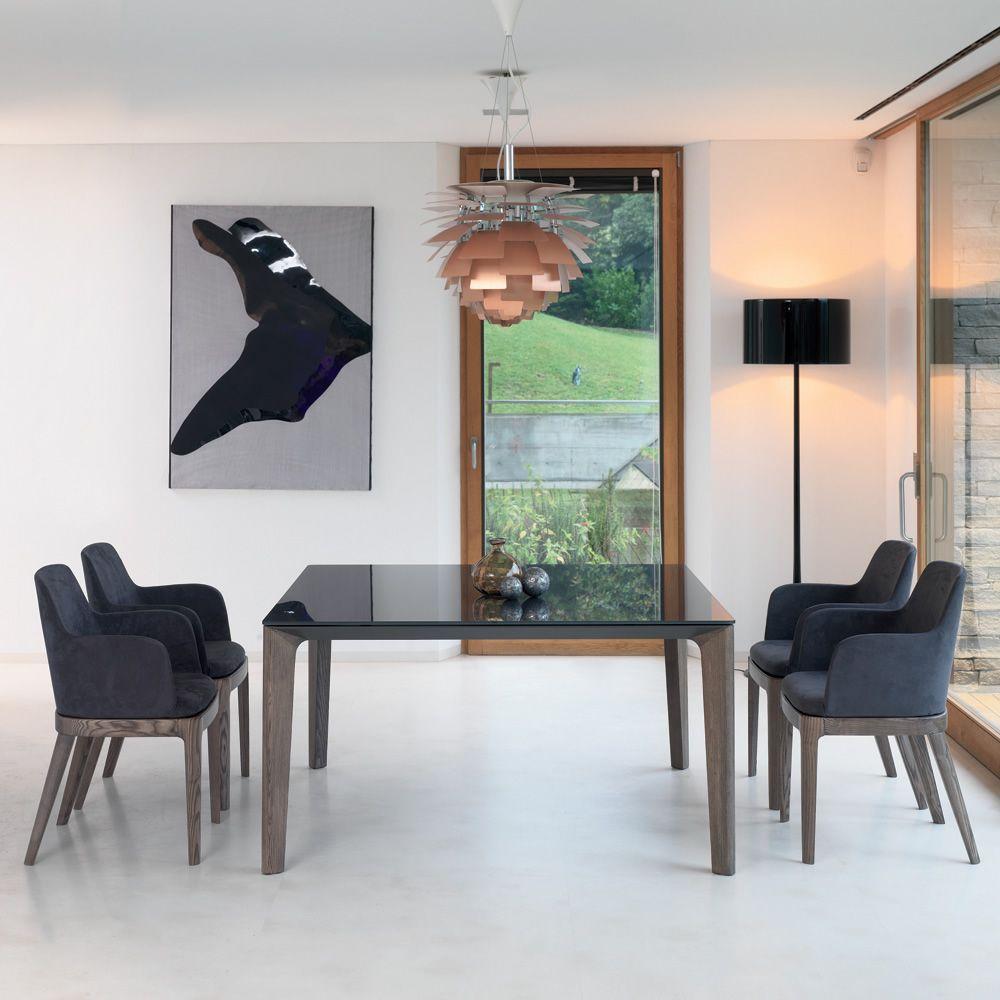 Versus tavolo di design di bontempi casa 140 x 140 cm fisso in legno e piano in legno o - Dimensioni tavolo biliardo casa ...