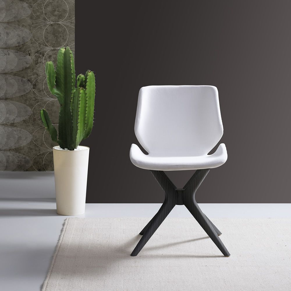 Meg ma modern wooden chair padded seat available with - Sedia tulip star ...