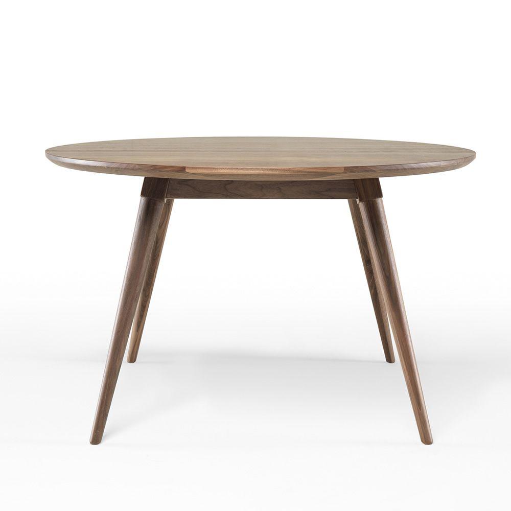 Maria mesa redonda en madera fija 130 cm disponible - Mesas madera diseno ...