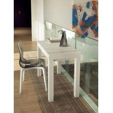 Cosmo - Consolle Domitalia in legno, 100 x 50 cm allungabile