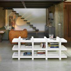 Booky - Libreria Slide in polietilene, diversi colori e misure, anche per giardino