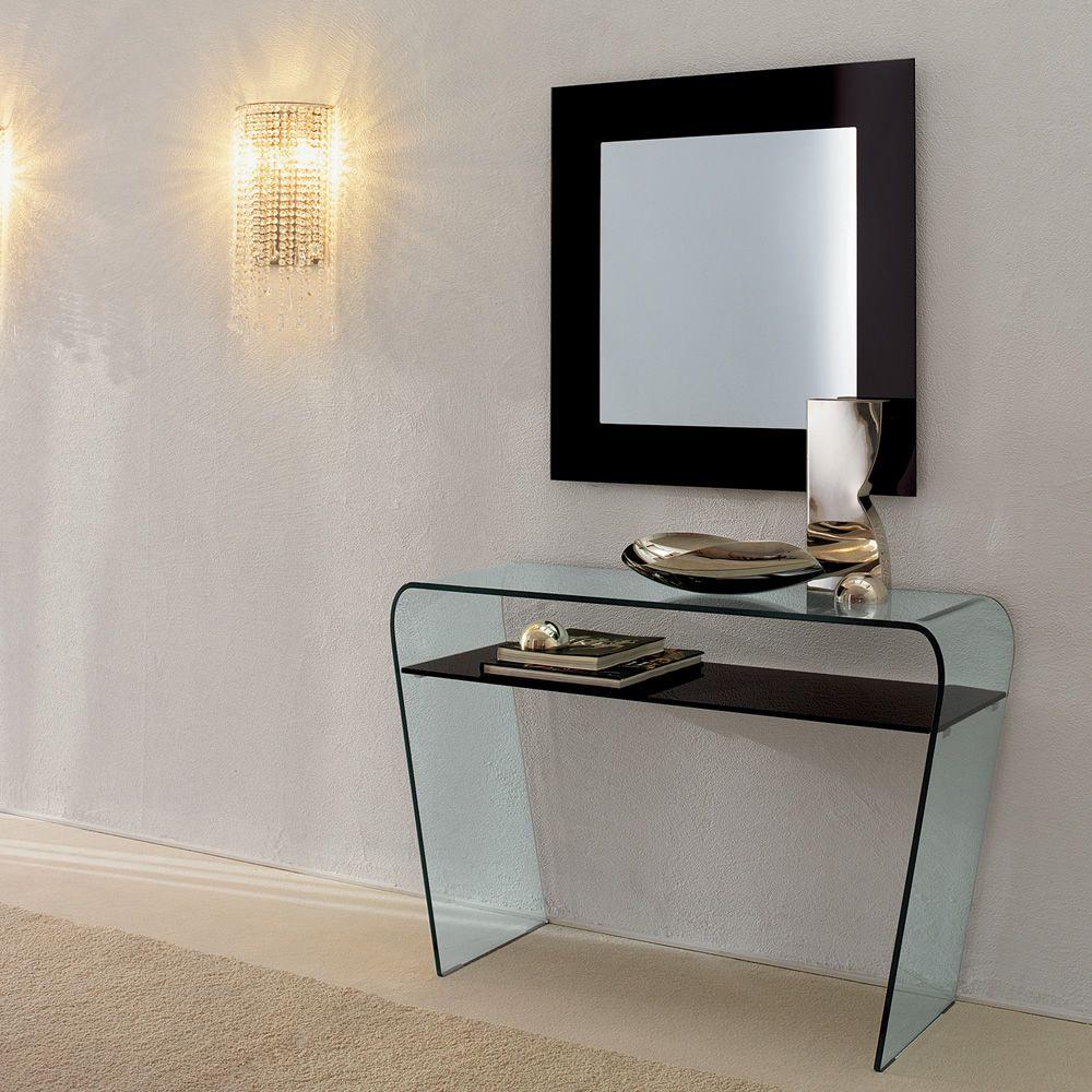 toshima 5032 miroir carr e tonin casa avec cadre en verre. Black Bedroom Furniture Sets. Home Design Ideas