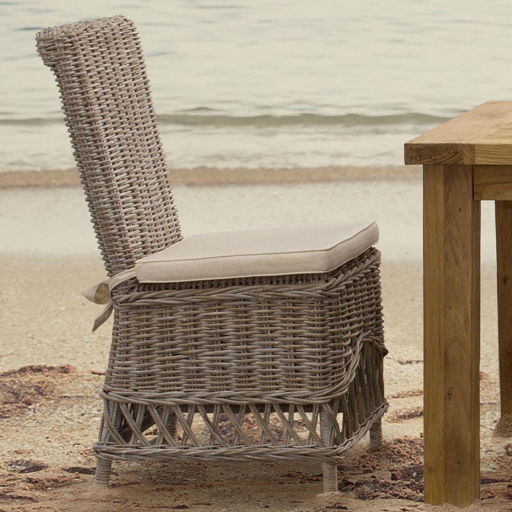 Warta sedia in rattan con cuscino per giardino sediarreda - Rattan giardino ...