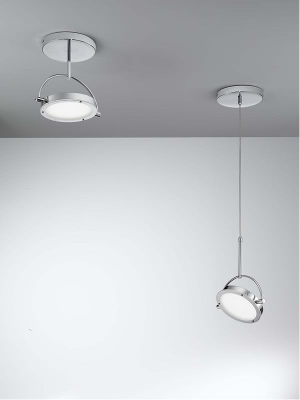 Ceiling Led Lighting Systems : Fa p modern ceiling lamp in metal and glass led