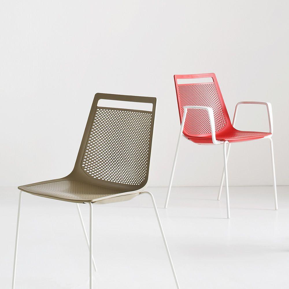 Akami sedia di design in metallo e tecnopolimero - Sedie esterno design ...