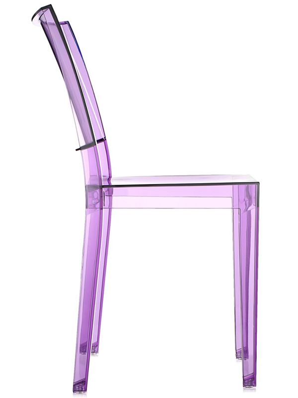 La marie chaise kartell design en polycarbonate transparent empilable aus - Chaise design violette ...