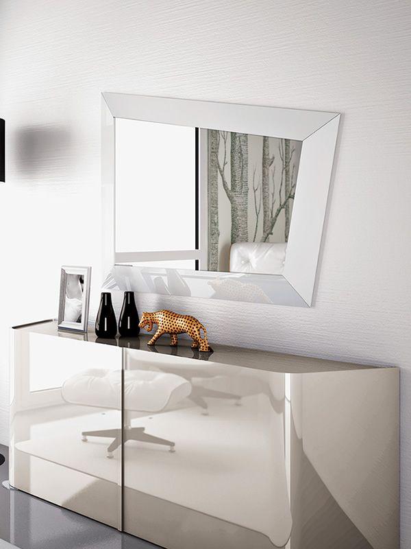 Look - Specchio moderno con cornice in legno o cristallo - Sediarreda