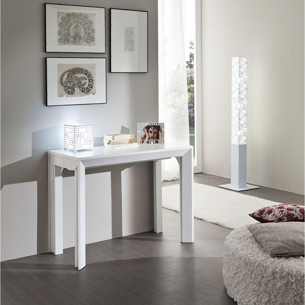 pa40f tavolo consolle allungabile in alluminio piano 46