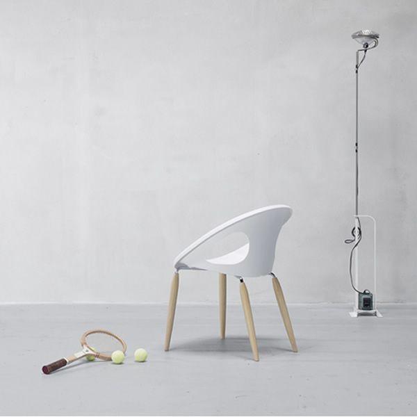 Natural drop 2826 chaise moderne en bois et technopolym re disponible en di - Fauteuil moderne blanc ...