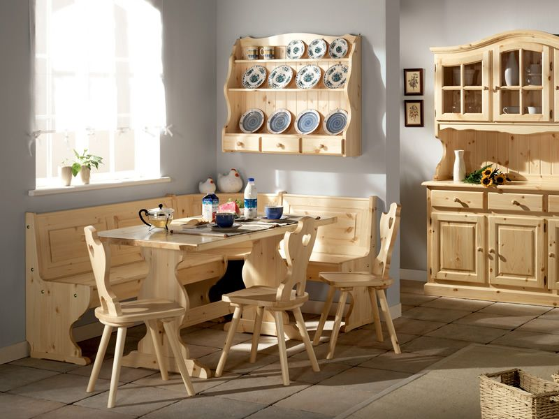 Fratino fisso tavolo in pino disponibile in diverse misure e colori sediarreda - Tavolo con sedie diverse ...