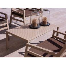 Aria T - Tavolino in polipropilene, 60x60 o 100x60cm, diversi colori disponibili, per giardino