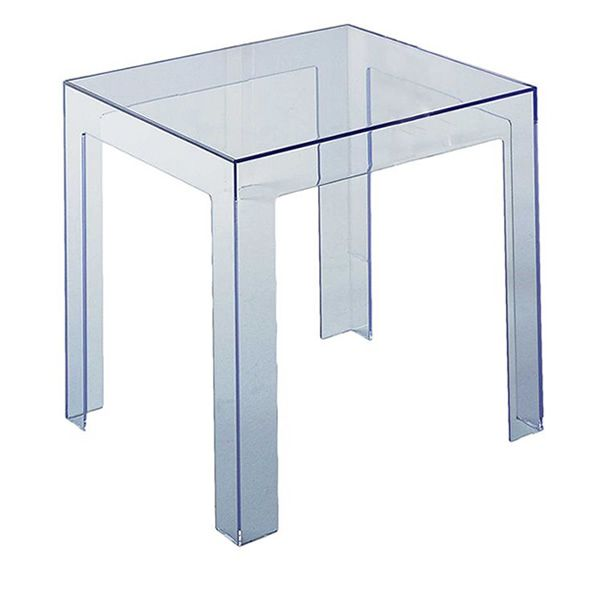 jolly: kartell design coffee table, 40x40 cm, in polycarbonate