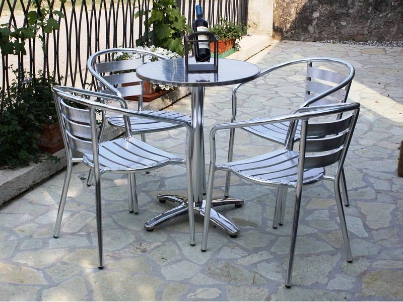 z alu chaise d 39 ext rieur empilable en aluminium sediarreda. Black Bedroom Furniture Sets. Home Design Ideas