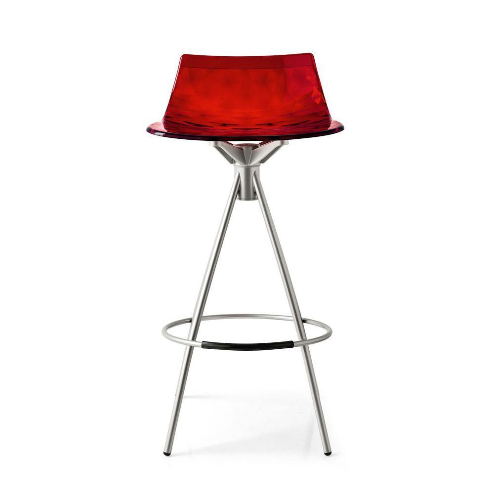 cb1049 ice tabouret connubia calligaris en m tal et san hauteur assise 65 ou 80 cm sediarreda. Black Bedroom Furniture Sets. Home Design Ideas